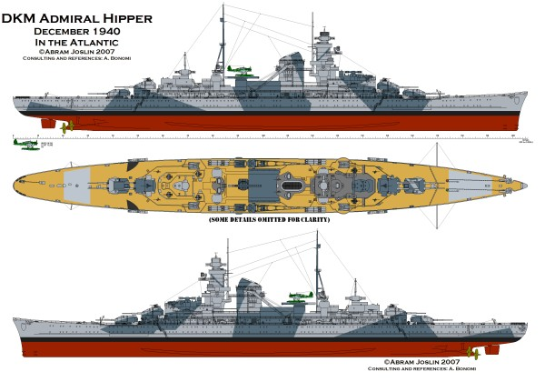 Admiral Hipper Drawing