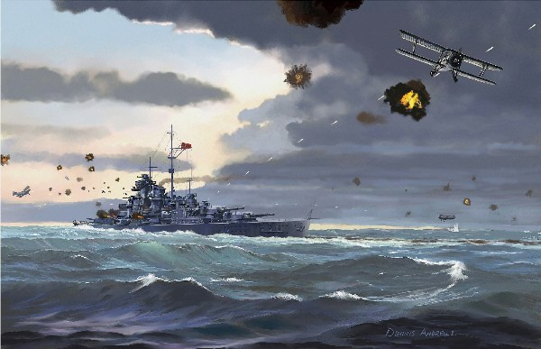 Bismarck painting by Dennis Andrews