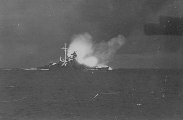The Bismarck in Battle