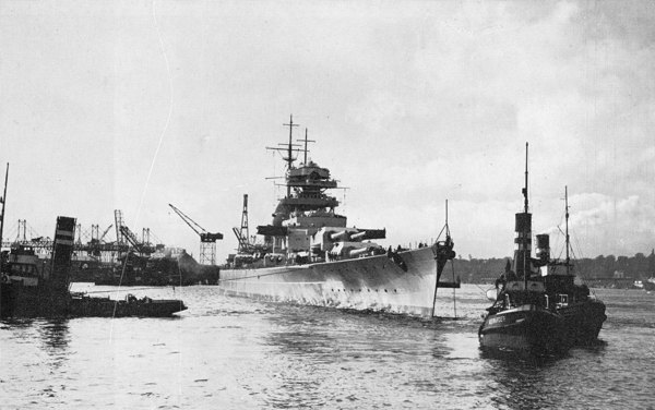 Bismarck Leaving Hamburg